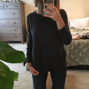 Charcoal grey high low sweater